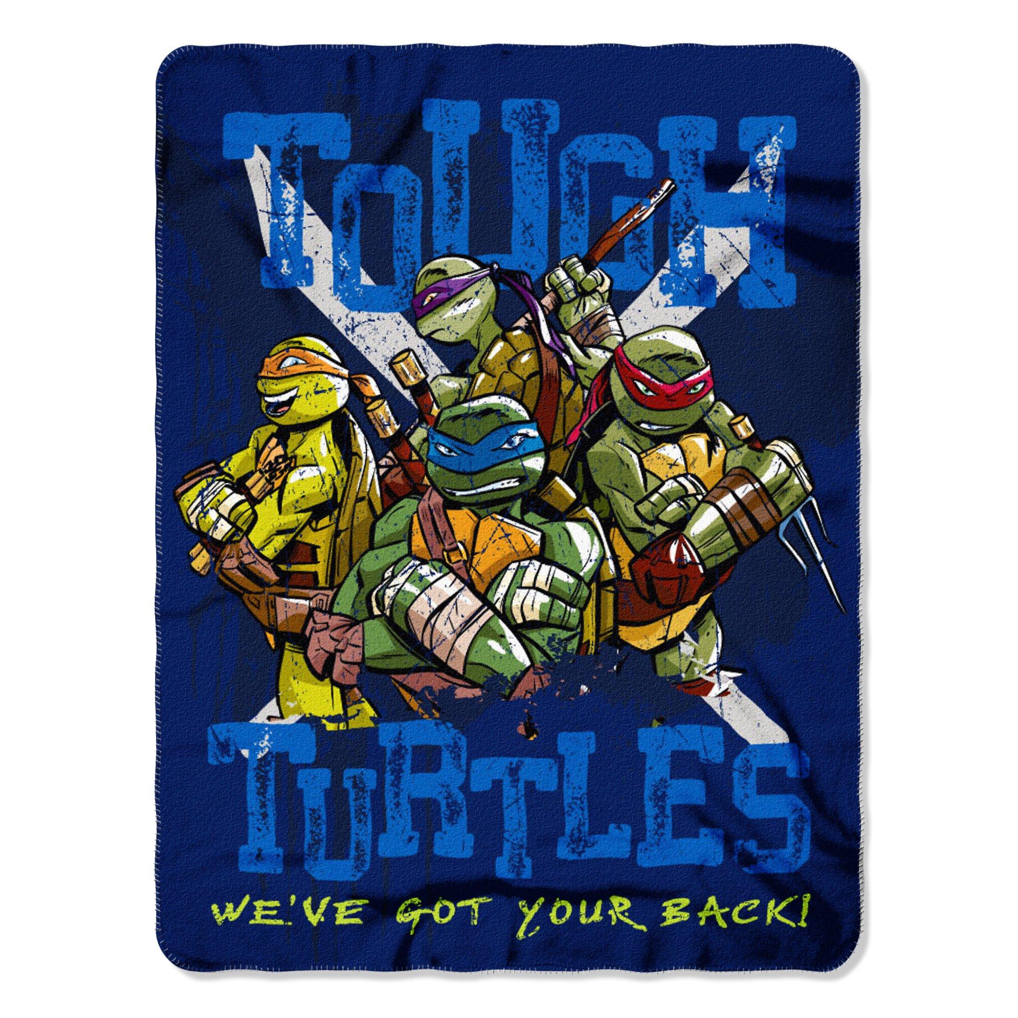 "Nickelodeon Teenage Mutant Ninja Turtles, Tough Turtles Blues Fleece Throw Blanket, 45"" x 60"", Multi Color"