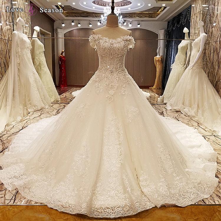 Ls69974 Bonned Off Shoulder Lace Exquisite Wedding Dress Patterns ...