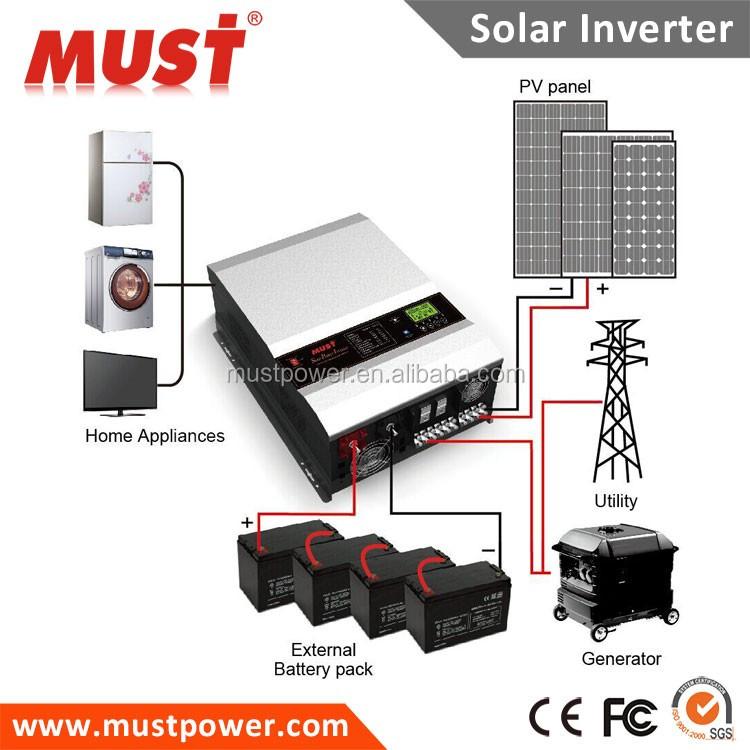 Solar Power Inverter 5kw 10kw 12kw Hybrid Solar Inverter For Generator ...
