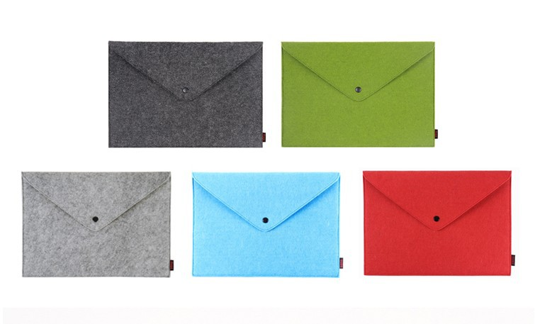 a4/a5 wool felt recyclable document pouch