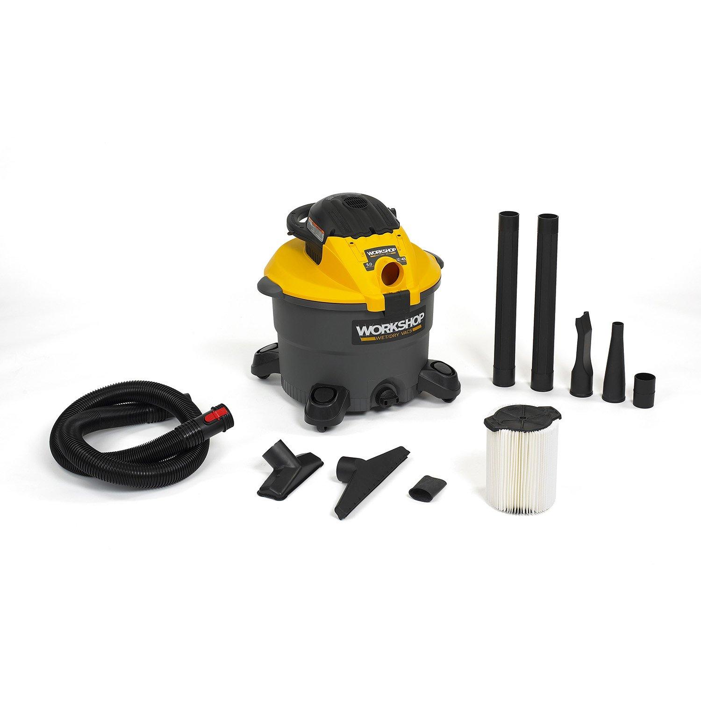 Workshop Wet Dry Blower Vac WS1200DE Heavy Duty Leaf 12 Gallon Wet Dry Vacuum Cleaner And Leaf Blower, 5.0 Hip