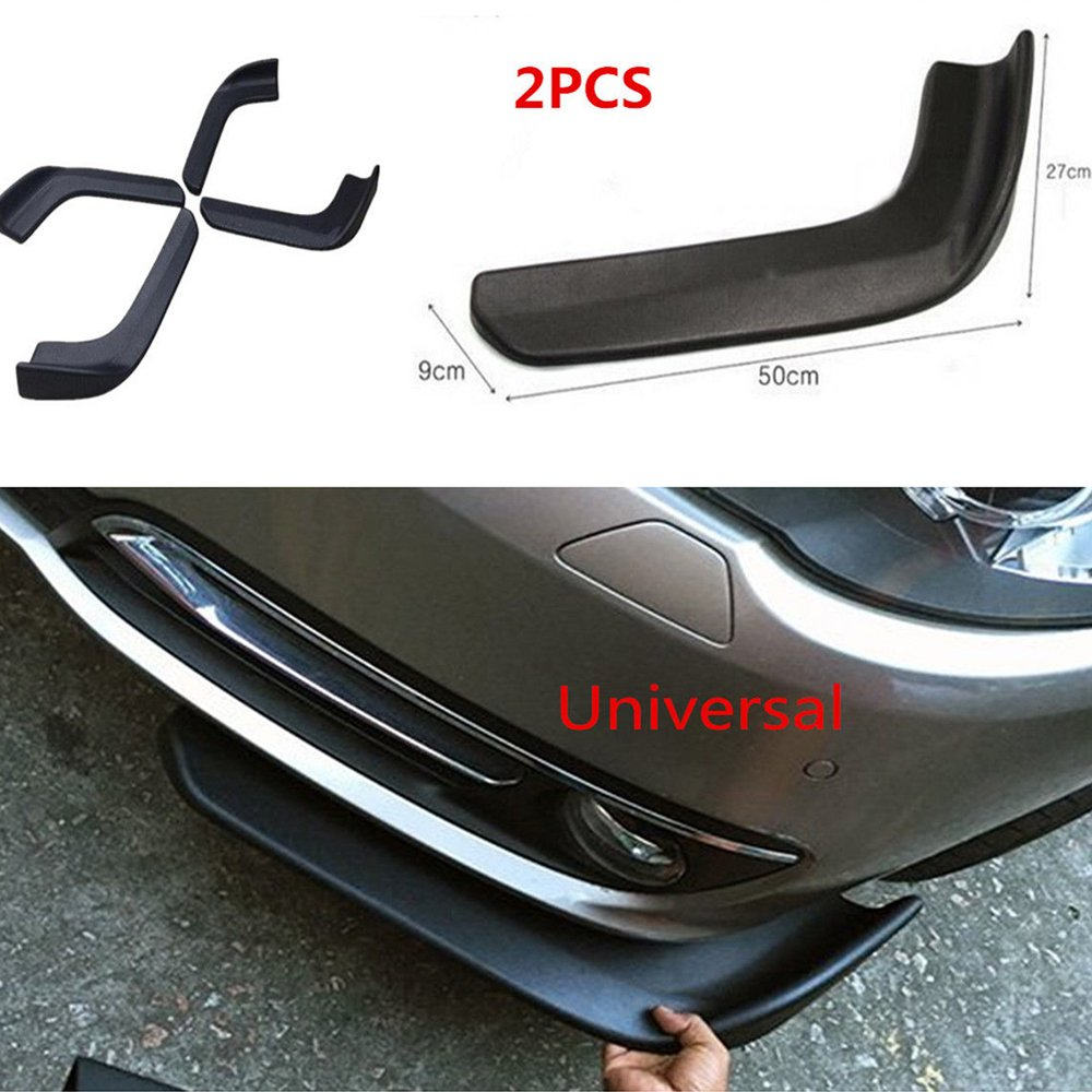 COOL/·CAR Universal fit Car bumper spoiler Front lip Splitter Side Skirt Roof Spoiler ,100/% waterproof protection 2.5 meters, Black red edge
