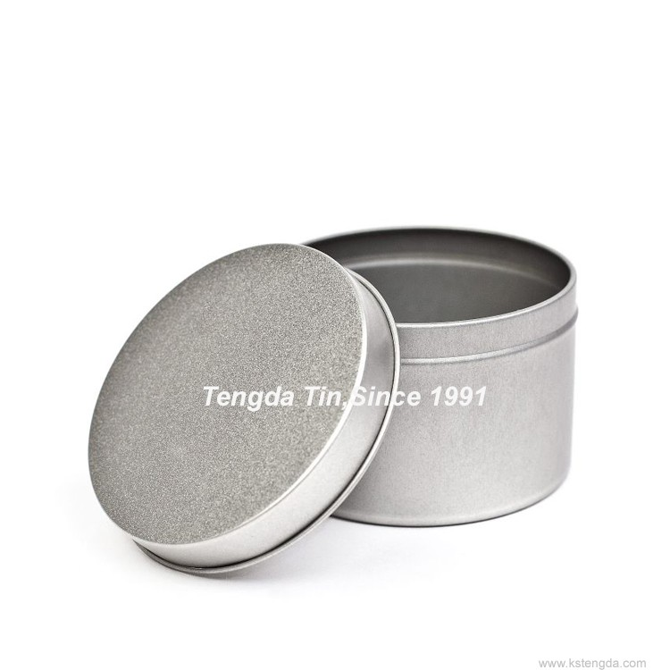 glossy miniature round tin boxes for tea and coffee packaging
