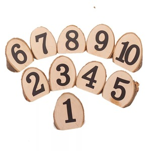 Valentine's day handmade seat number digital card display pieces creative rural log ecological branches home decoration crafts