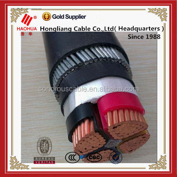 4 cores Low smoke halogen free PVC Power Cable