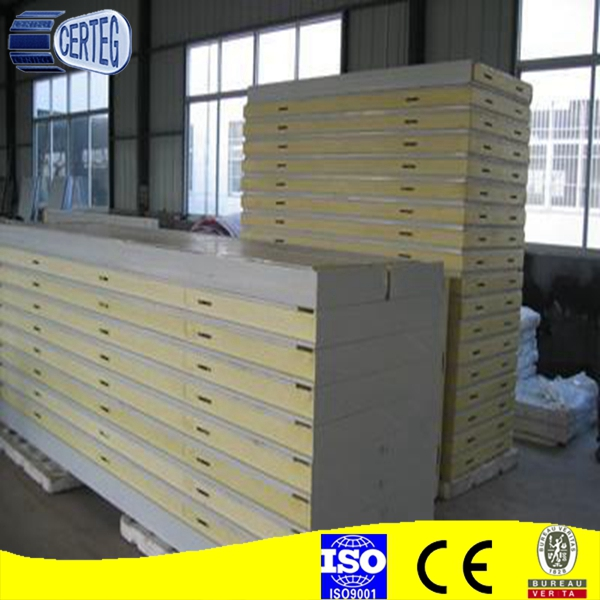 Roof Roll Forming Aluminum Cold Room Panel with cam lock