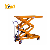500kg flexible hydraulic hand double scissor lift trolley tables for man lift price