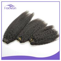 Brazilian virgin Yaki human hair extension 100% virgin remy brazilian hair weft
