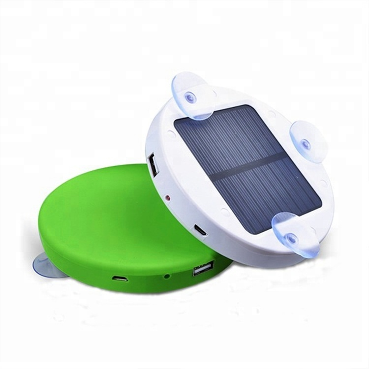 CE RoHS FCC Car Window Solar Battery Mobile Phone Power Bank Portable Charger