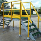 Construction Frp Profile Frp Profile JH1012 FRP Staircase / Handrail / Fence / Ladder Profile