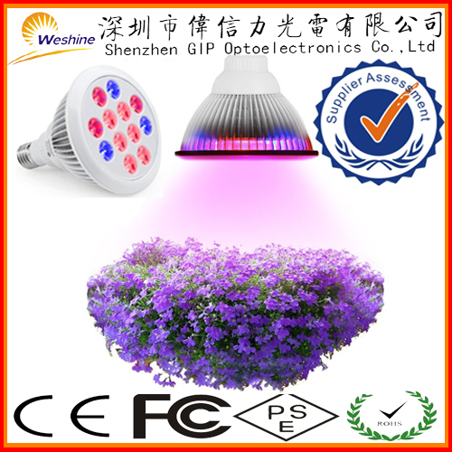 24W LED Grow light Greenhouse Hydroponic system organic indoor gardening full spectrum 24 watt Wide surface area led grow light