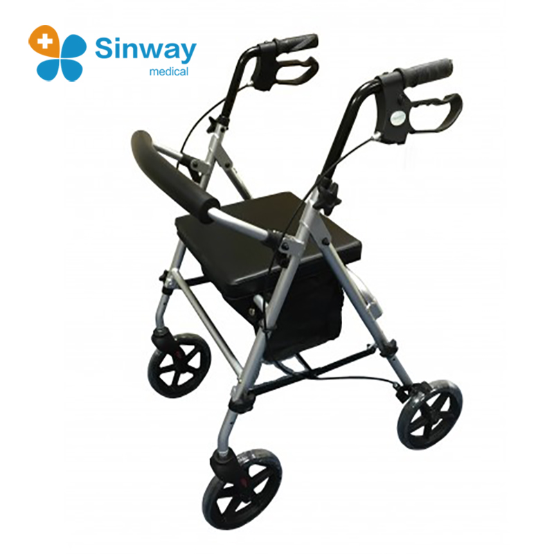 Medical Aluminum Lightweight Walking Rollator Walker Manufacturer