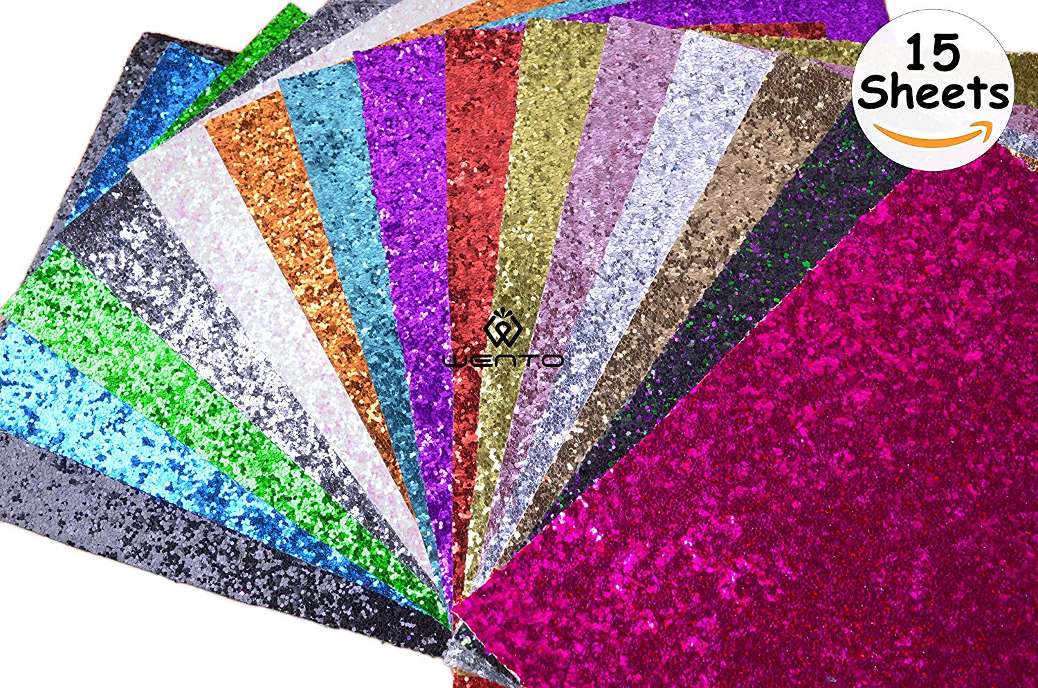 """Get Quotations · WENTO Assorted Colors 15pcs 8"""" x 12"""" (20cm x 30cm) Sparkly  chunky 1862f88f4d55"""