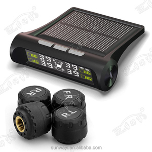 Car Wireless tire pressure solar power tpms with external sensors