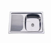 stainless steel kitchen sink Chile 800X435MM