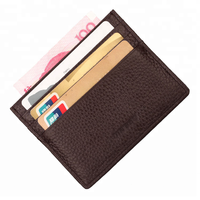 Custom genuine leather rfid credit/atm card holder