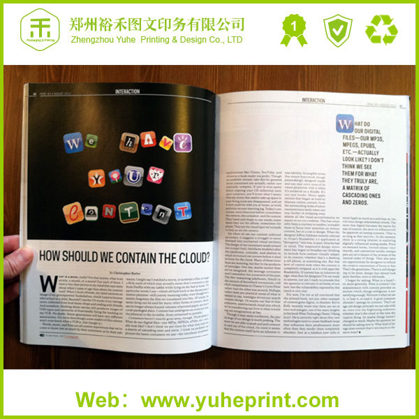 Full color hotsel cheap booklet poster printing ls magazine models free design