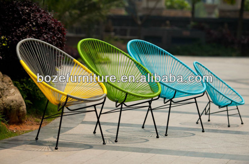Chaise D\'œuf En Rotin Jardin Acapulco Chaise Empilable Moderne Solair  Chaise/forme Ovale Coloré Chaise En Osier Synthétique - Buy Chaise En ...