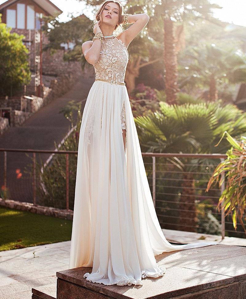 2015 женщин обернуть шифон кружева бусины блесток ну вечеринку сексуальная длинные платья невесты пром дама де honra # 71825