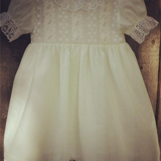35d19330 Baby Girls Lace Heirloom Style Cap Sleeve Dress Infant Toddlers Baptism  Clothes