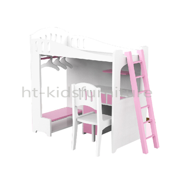 56x30x H 58cm E1 Mdf Easy Assembly 18 Inches Doll Bunk Bed With