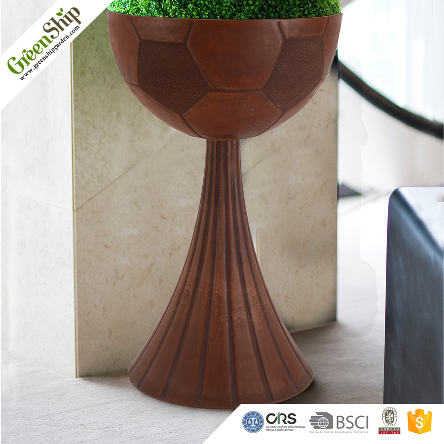 Fashionable Cup Shape Ceramic Tall Garden Planter