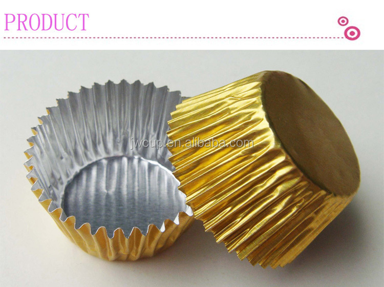 Gold Color Aluminum Foil Cake Baking Cup Manufacturer In Guangzhou ...