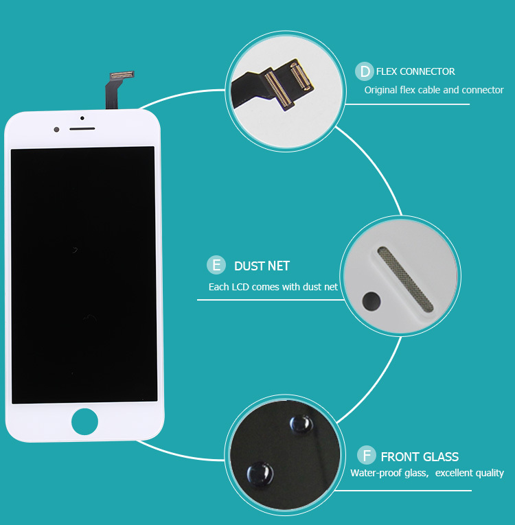 Cell Phone Repair Parts Lcd With Touch Assembly For Apple Iphone 6 ...