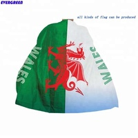 Cheap price custom printed football fans Wales body wear flag