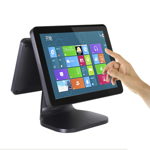 MSR Double screen 15 inch Capacitive Touch cash register pos system