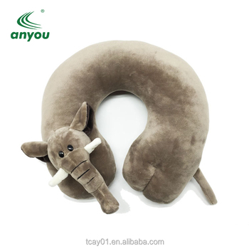 2018 new design airplane funny memory foam animal shaped travel neck pillow