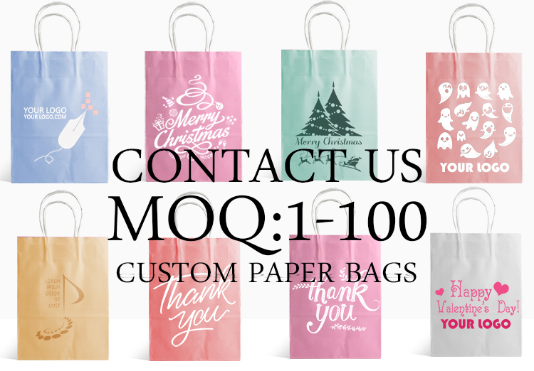 wholesale promotional custom printed low cost paper shopping gift packing bag