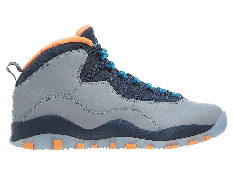 "Nike Mens Air Jordan Retro 10 ""Bobcat"" Leather Basketball Shoes"