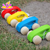 Colorful kids play wooden car toys for wholesale W04A142