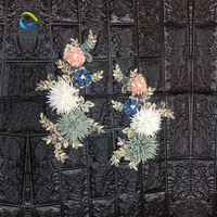 New Fashion Flower Applique Pearl Embroidery 3D Flower Patches for Clothes