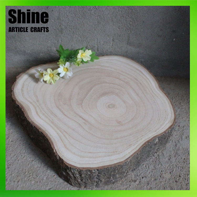 Unfinished wooden craft western style wood carved coasters