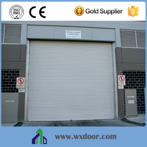 automatic steel sectional overhead door/high speed industrial roller gate