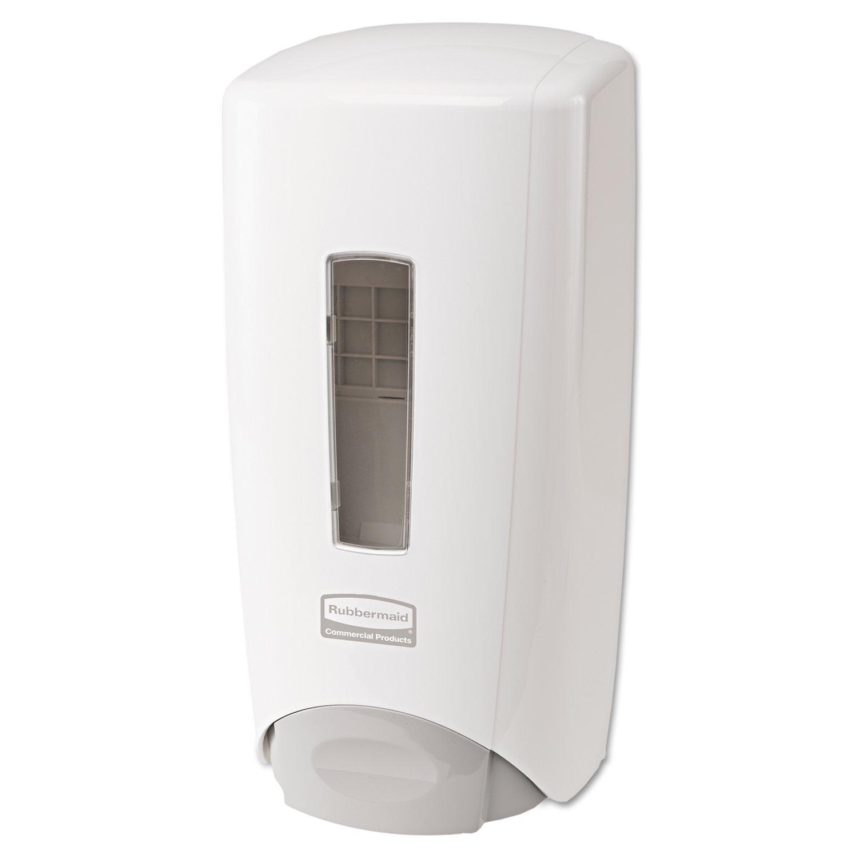 Rubbermaid Commercial 3486589 Flex Wall-Mounted Hand Soap/Cleanser/Lotion /Santizer Dispenser System, Dispenser, White