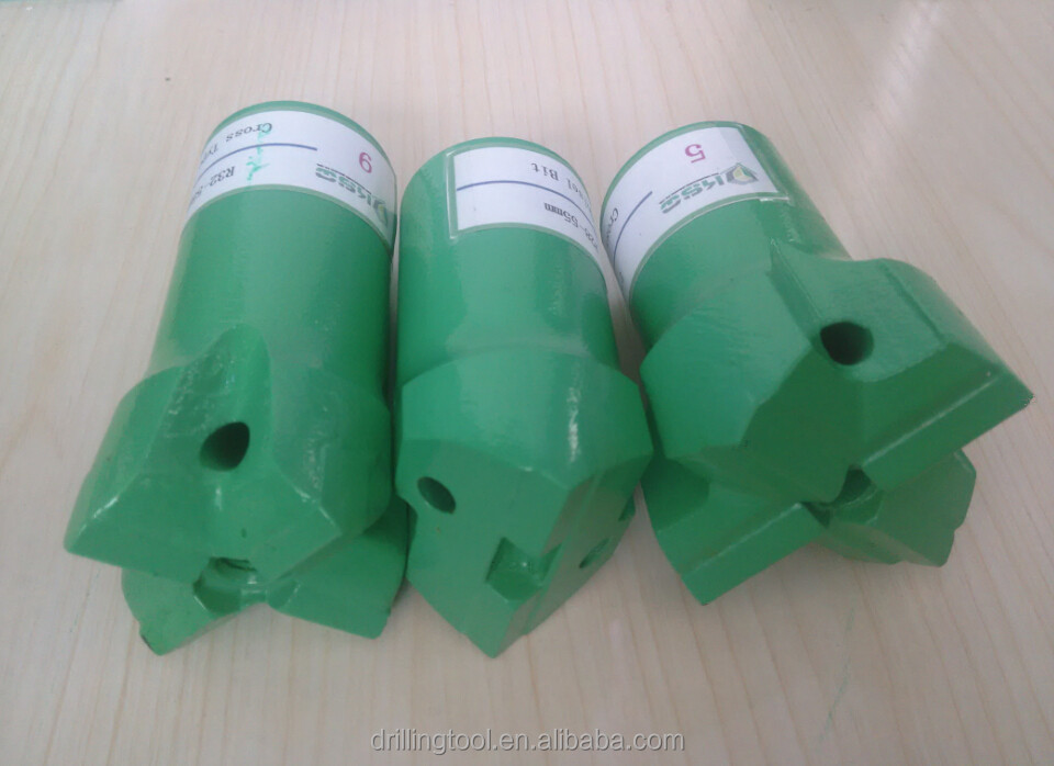R38 X-Type bit Mining Tools Thread Cross Steel Type Bits