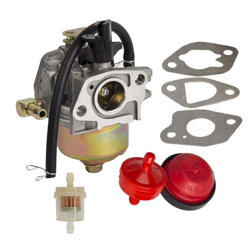 HIFROM Carburetor with Primer Bulb 3 Gaskets & 2 Fuel Filter& Fuel Line for HUAYI 170S 170SA 165S 165SA Snowblower
