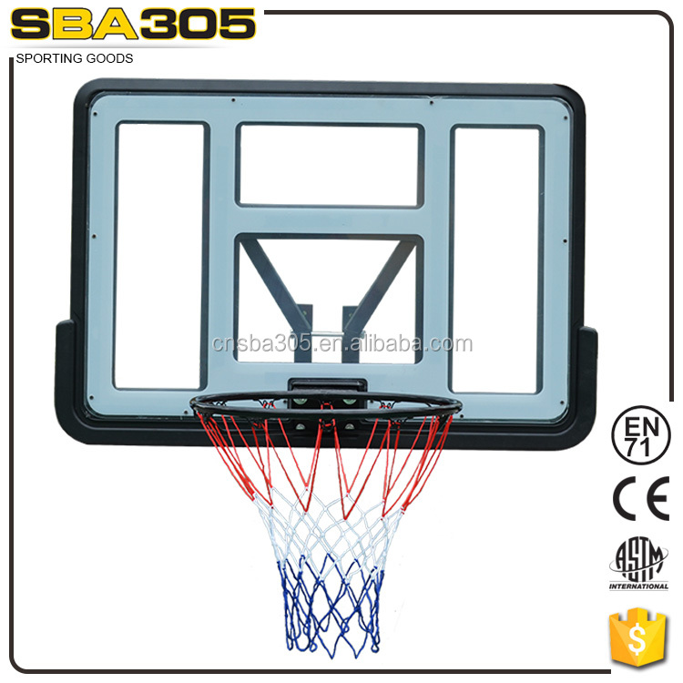 indoor fix wall plastic basketball set