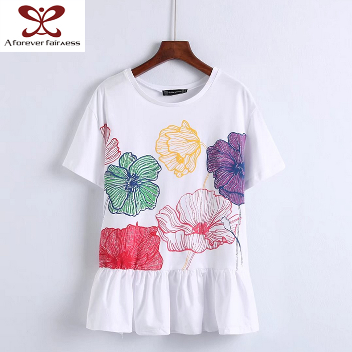 Wholesale Summer Embroidery T shirts ,blank fitted shirt ,100% Cotton girl shirt