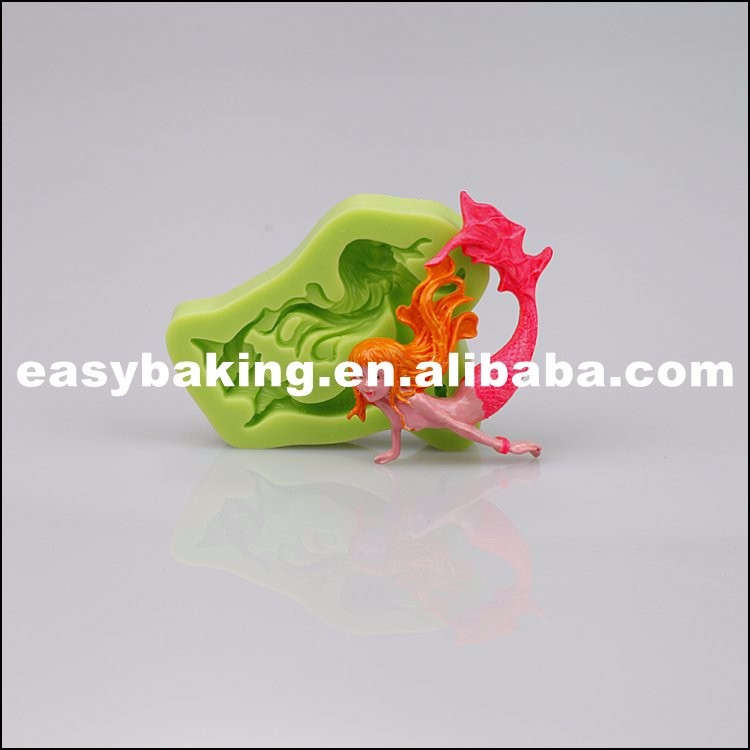 Fairy Tale World Mermaid Fondant Silicone Molds for cake decoration ES-1103