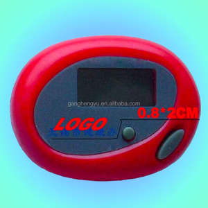 Oval Shape Mini Digital Fitness Sports Calorie Step Counter