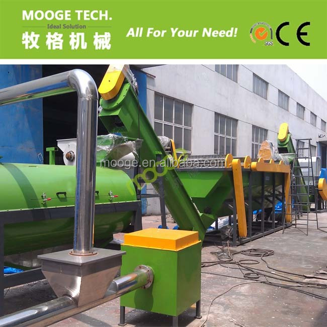 Waste plastic bottle recycling machine/pp pe hdpe flakes washing recycling line