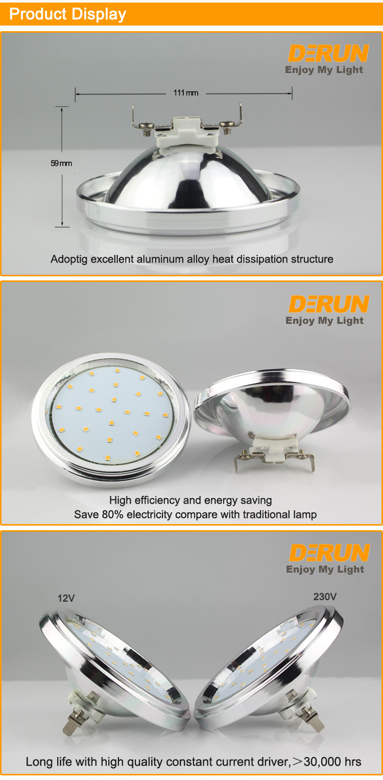 LED GX53 AR111 SMD GU10 COB 11W 15W 12V 220V 30 degree or 120 degree optional for residential and outdoor lighting , LED-AR111