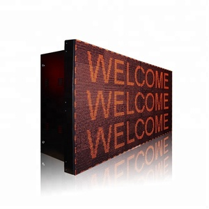 outdoor waterproof P10 Red 6X6 led screen LED signs led message scrolling display