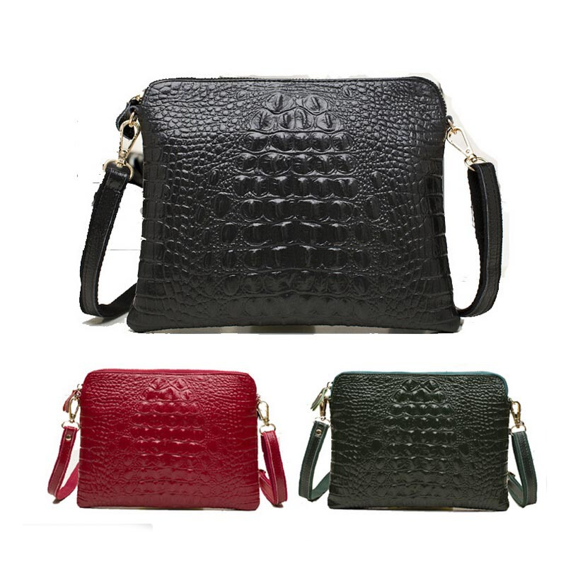 Classic Alligator Women Shoulder Bag Leather Pu Red Envelope Bag 2015 New Fashion Small Leather Messenger Bags Famous Brand
