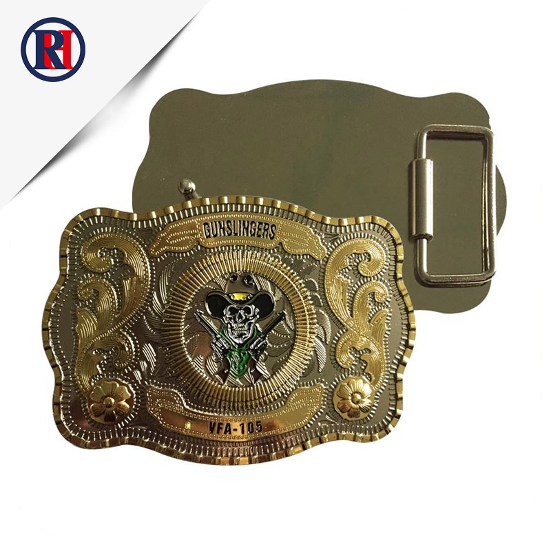 Custom Low price 3D design personalized western cowboy gold metal men belt <strong>buckle</strong> for man