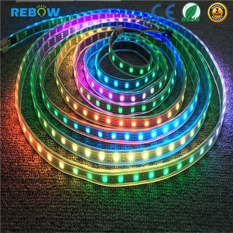 digital addressable <strong>rgb</strong> led strip ws2811 5050 <strong>rgb</strong> flowing led pixel strip
